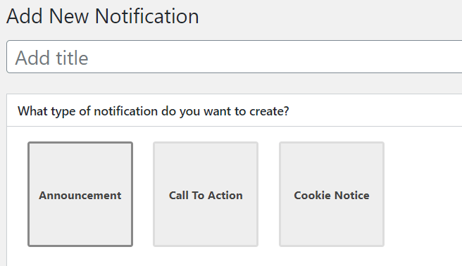 Notification types